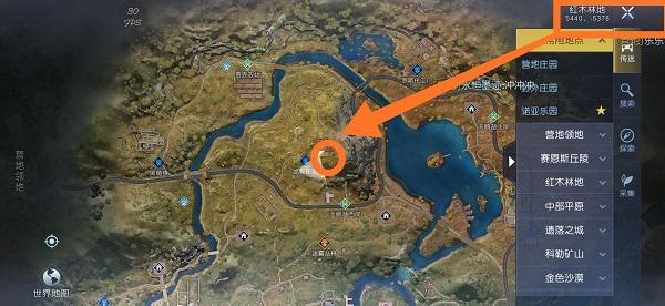 黎明觉醒凯勒庄园藏宝图位置