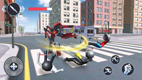 火柴蜘蛛英雄城市奔跑